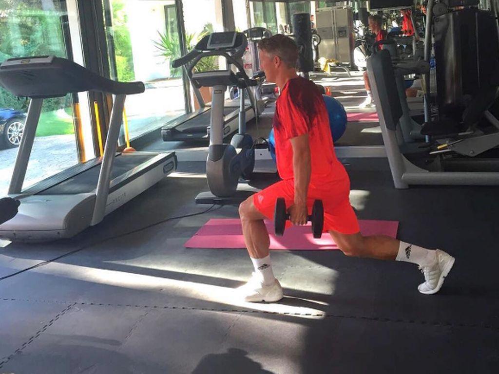 Bastian Schweinsteiger beim Workout