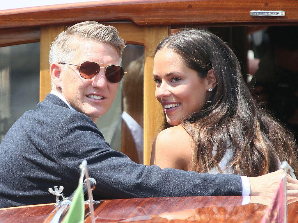 Bastian Schweinsteiger und Ana Ivanovic an ihrem Hochzeitstag in Venedig
