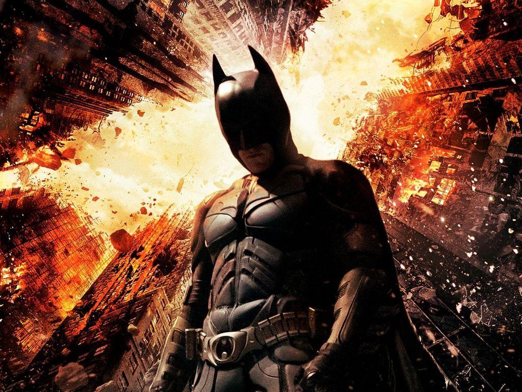 """Batman auf dem Plakat von """"The Dark Knight Rises"""""""