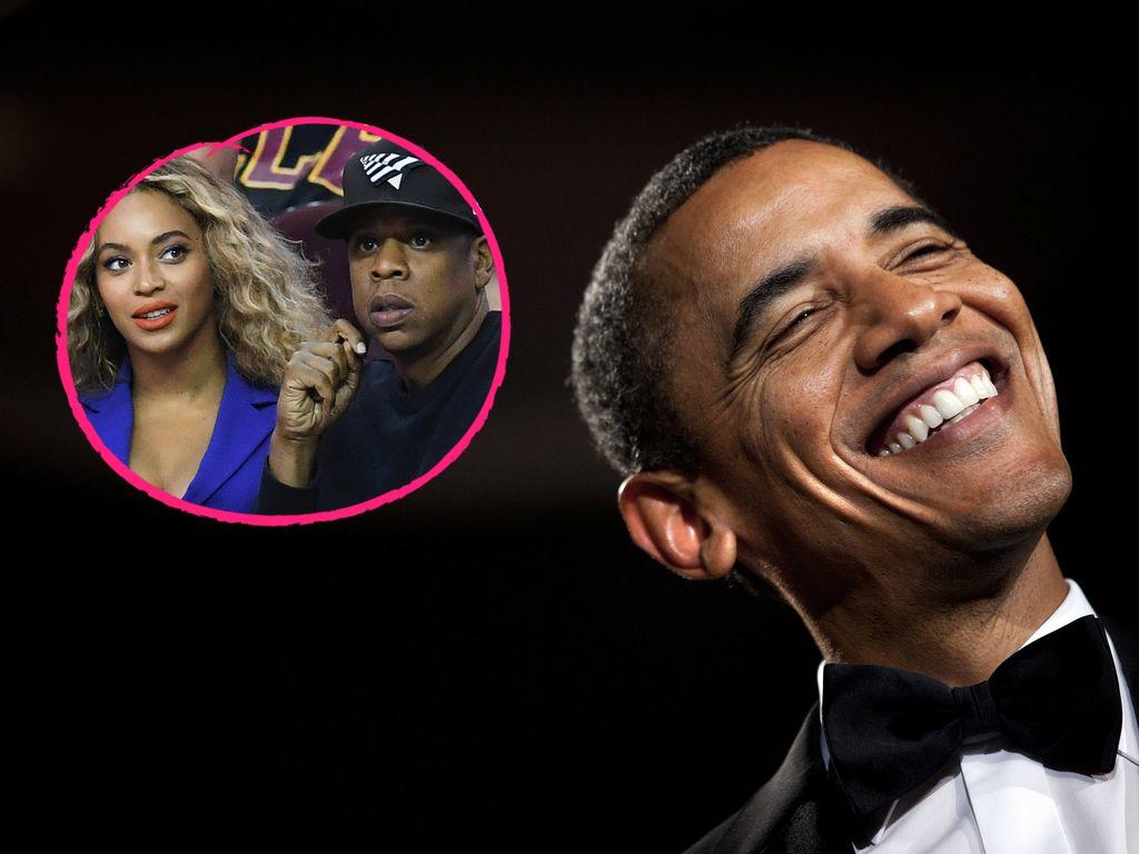 Beyonce, Jay-Z und Barack Obama