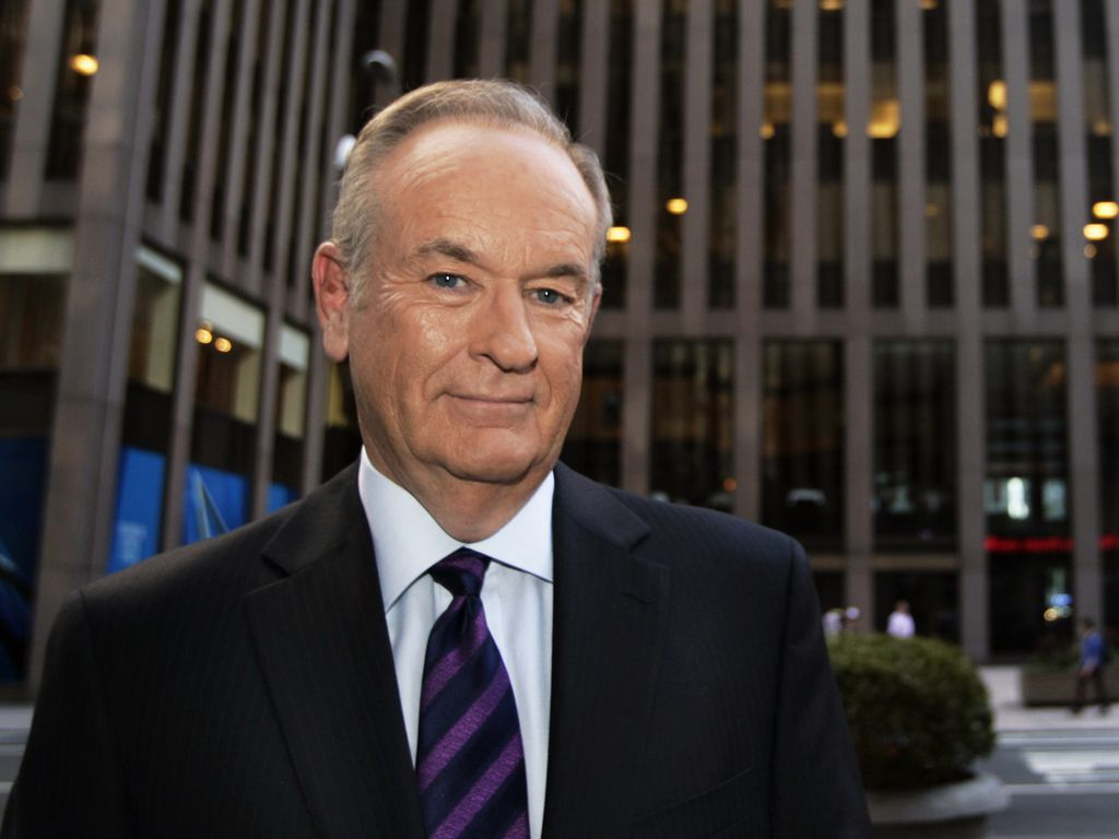 Bill O'Reilly vor den Fox Studios in New York