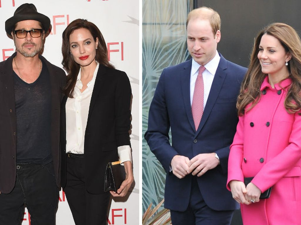 Herzogin Kate, Prinz William, Angelina Jolie und Brad Pitt