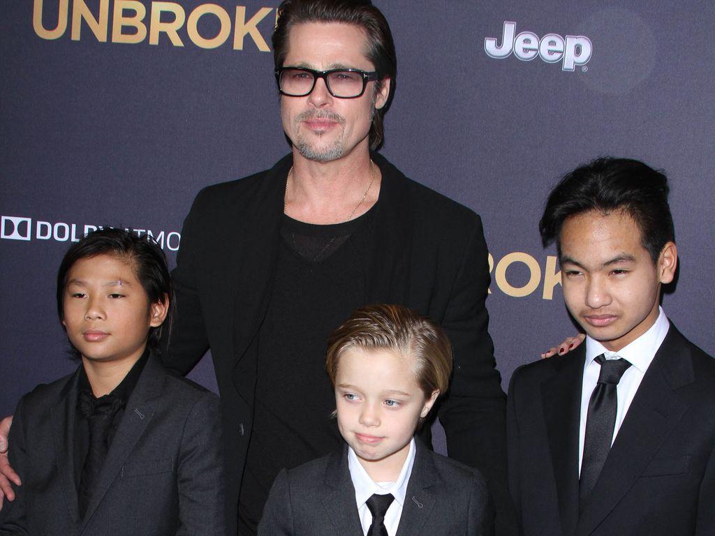 Brad Pitt, Pax, Shiloh und Maddox