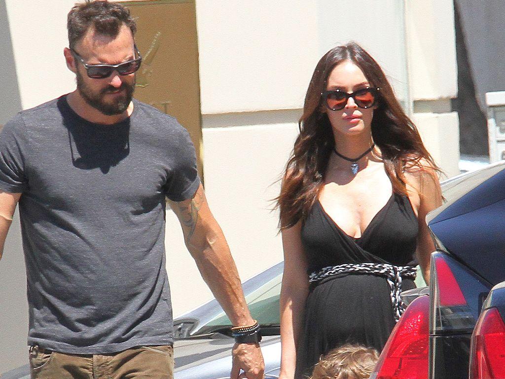 Brian Austin Green mit Megan Fox und den zwei Kindern