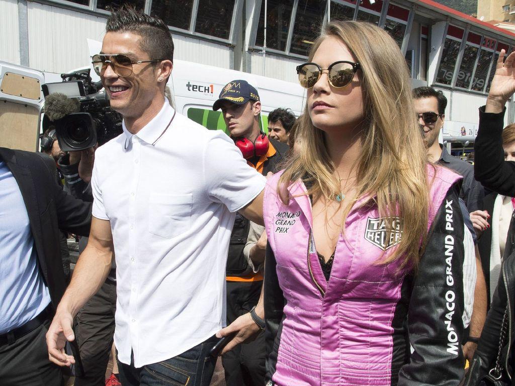 Cristiano Ronaldo und Cara Delevingne