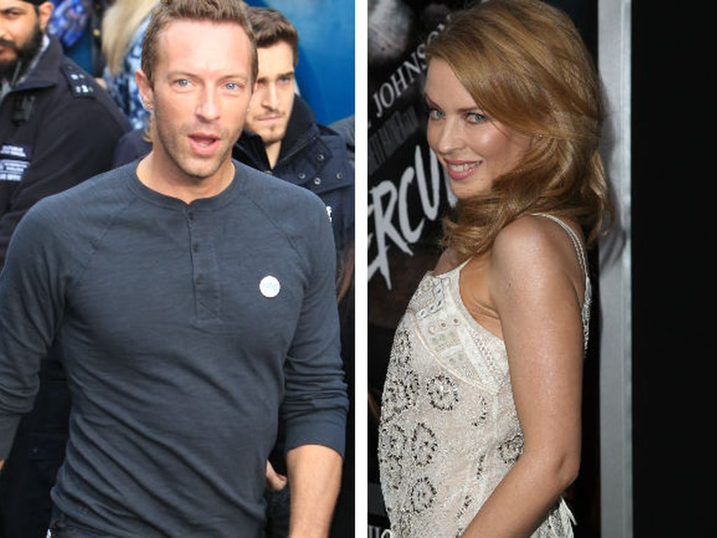 Kylie Minogue und Chris Martin