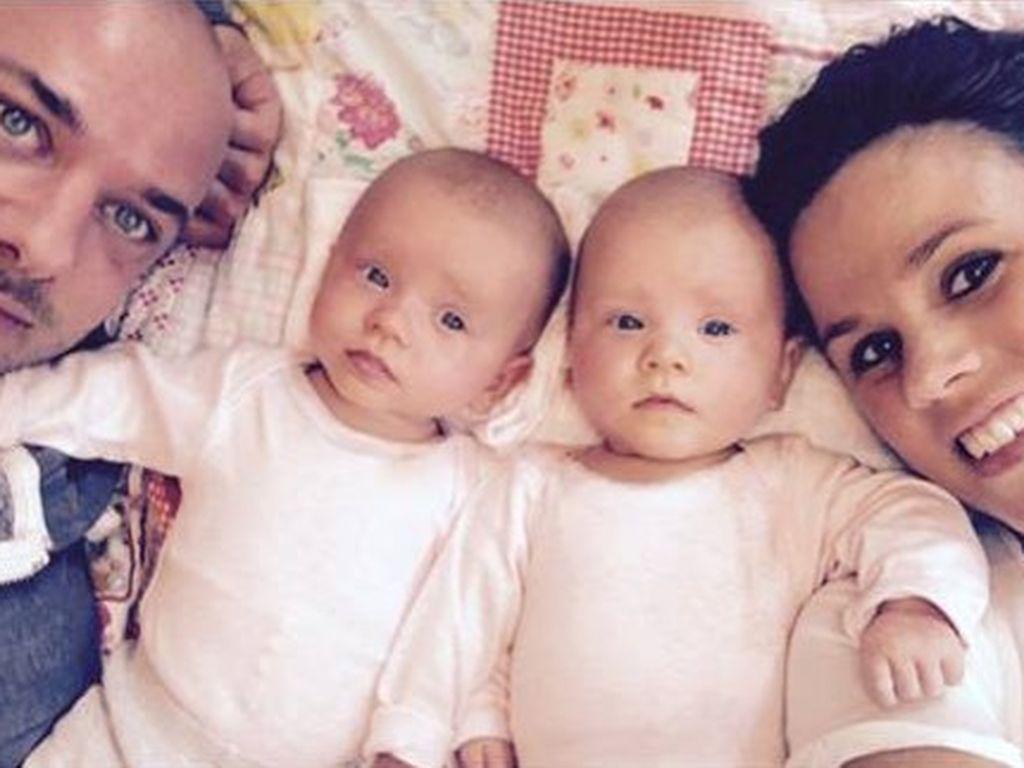 Christian Tews und seine Töchter Marlena und Paulina