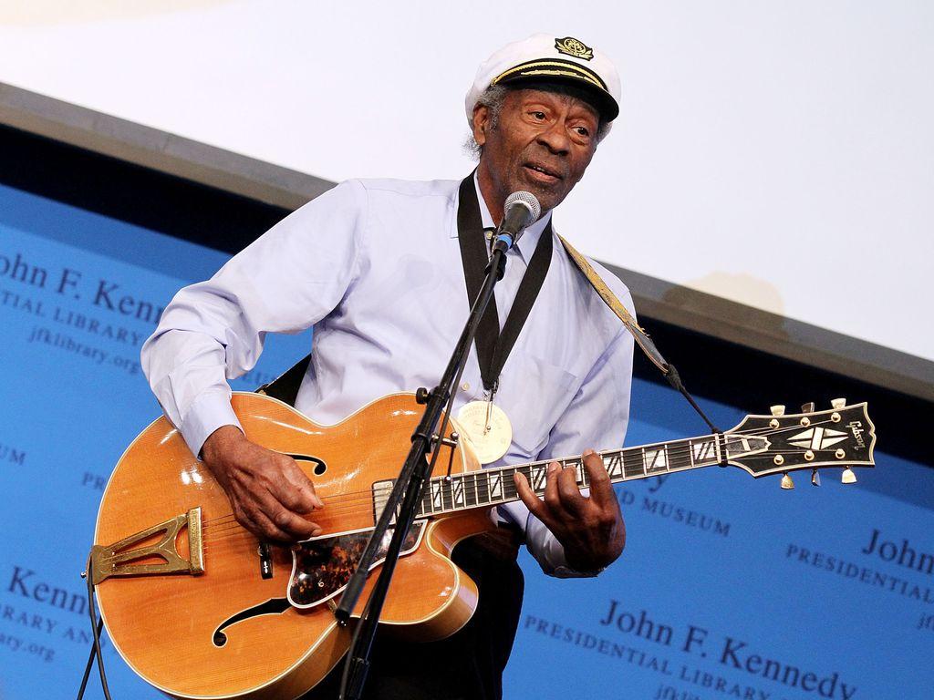 Chuck Berry bei einem Auftritt in Boston 2012