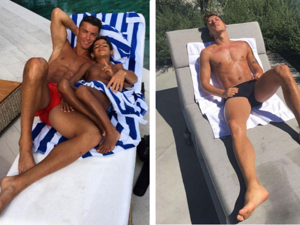 Cristiano Ronaldo mit Sohn und Mesut Özil im Urlaub