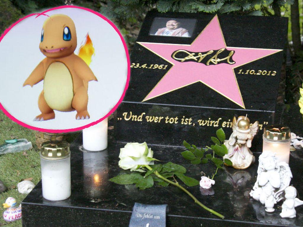 Das Grab von Dirk Bach wird zur Pokémon-Kampfarena