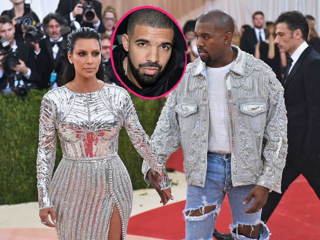 Collage: Drake mit Kimye