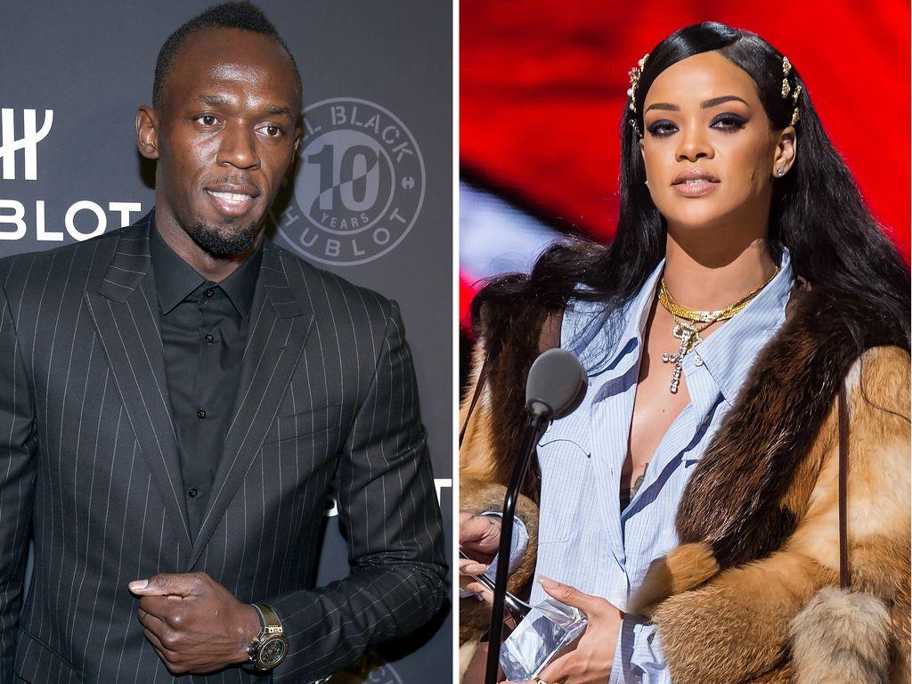 Rihanna und Usain Bolt