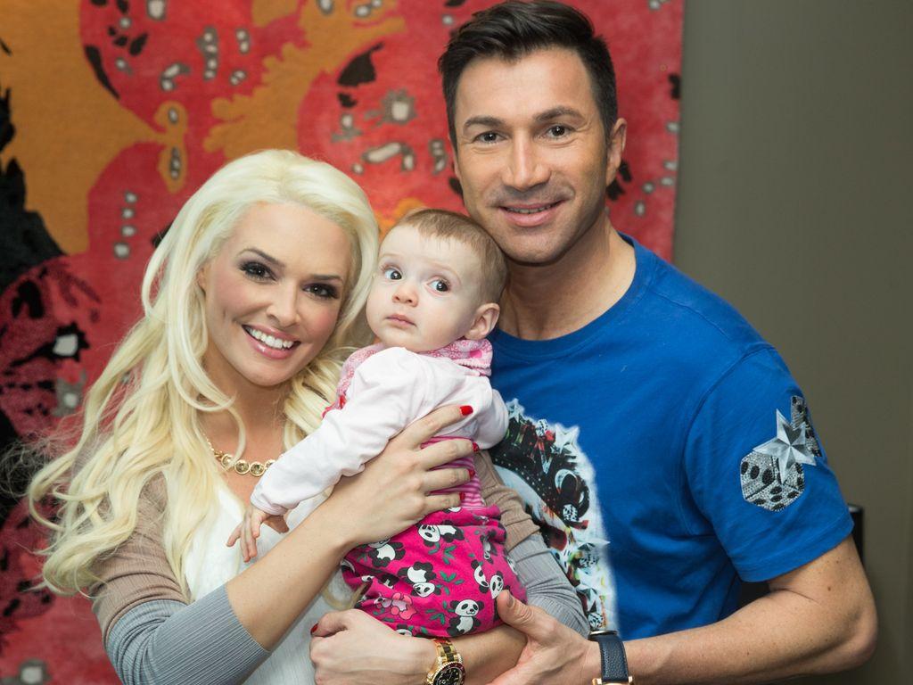Daniela Katzenberger mit Mann Lucas Cordalis und Tochter Sophia
