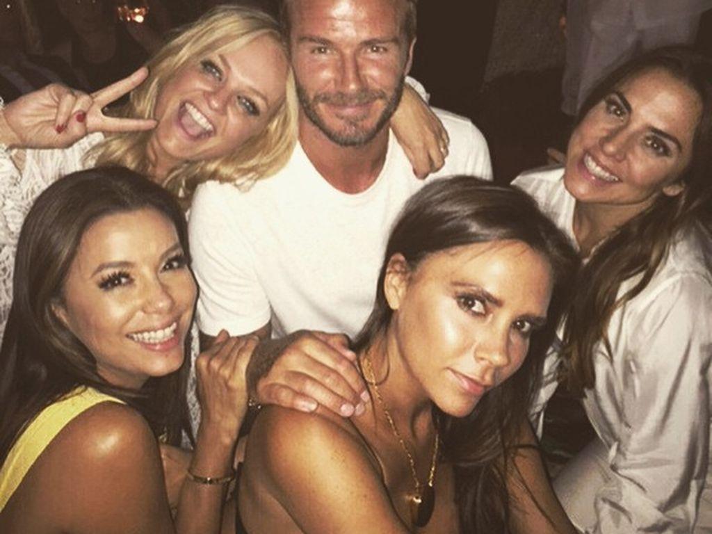 Eva Longoria, David Beckham, Victoria Beckham, Melanie C. und Emma Bunton