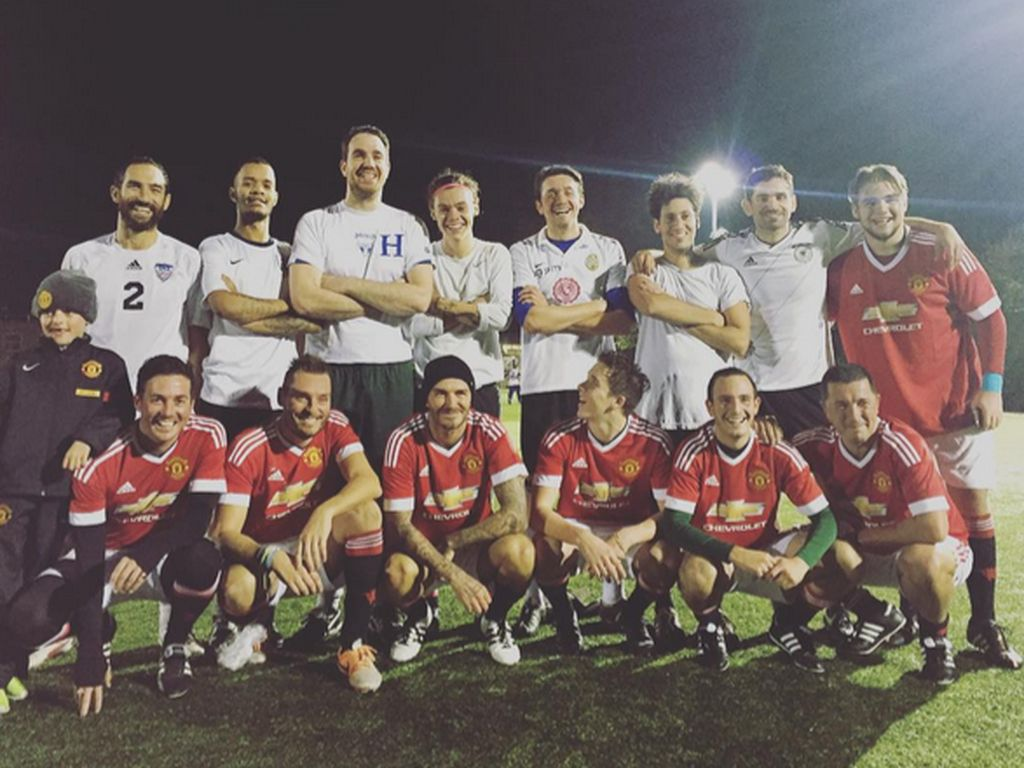 David Beckham, Brooklyn Beckham und Harry Styles