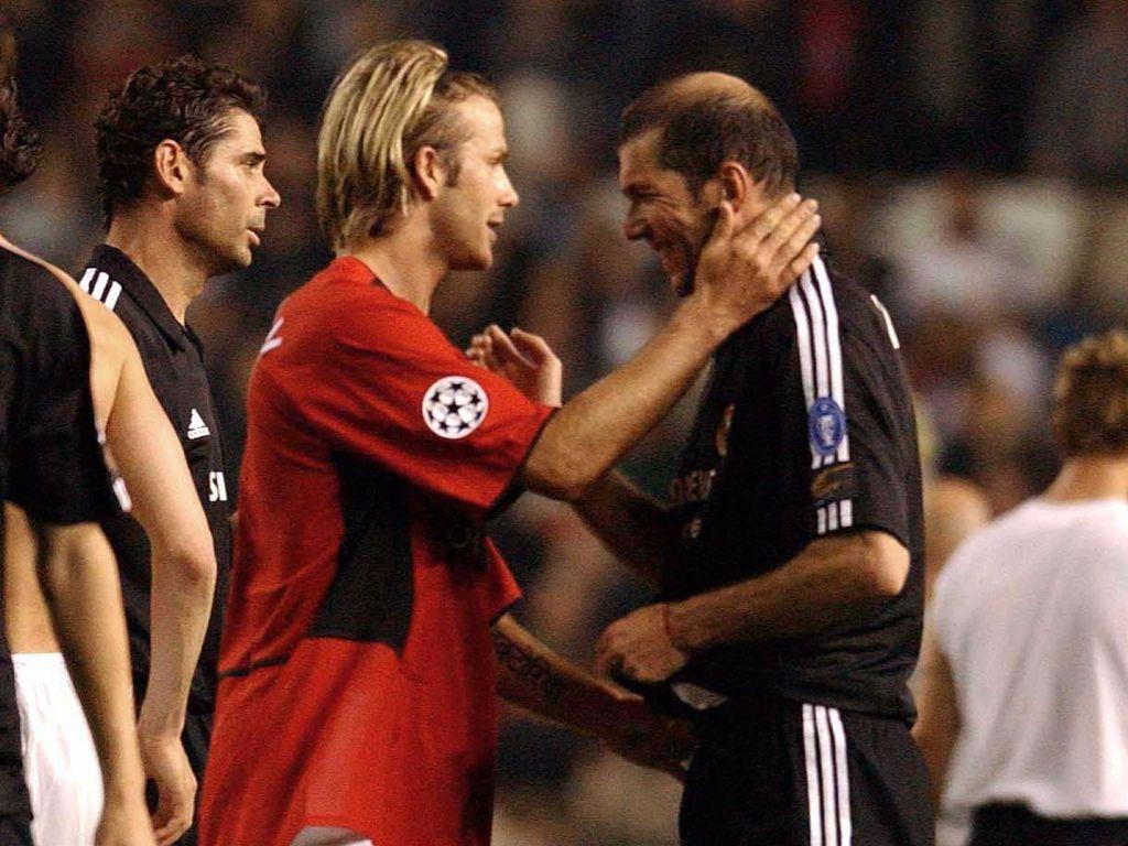 David Beckham und Zinedine Zidane
