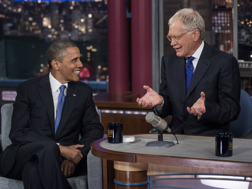 Barack Obama und David Letterman