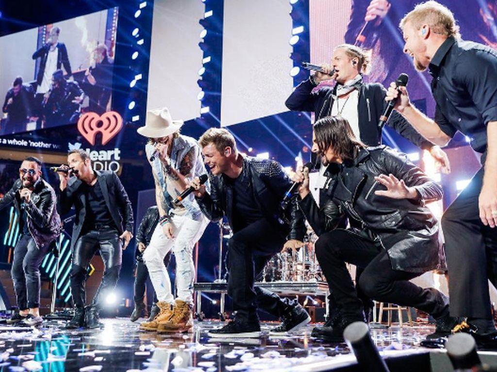 Die Backstreet Boys performen beim iHeartRadio Festival