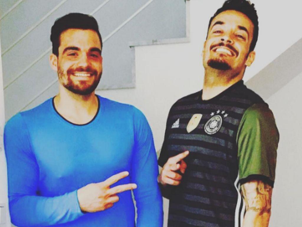 Fitness-Fans Stefano und Giovanni Zarrella