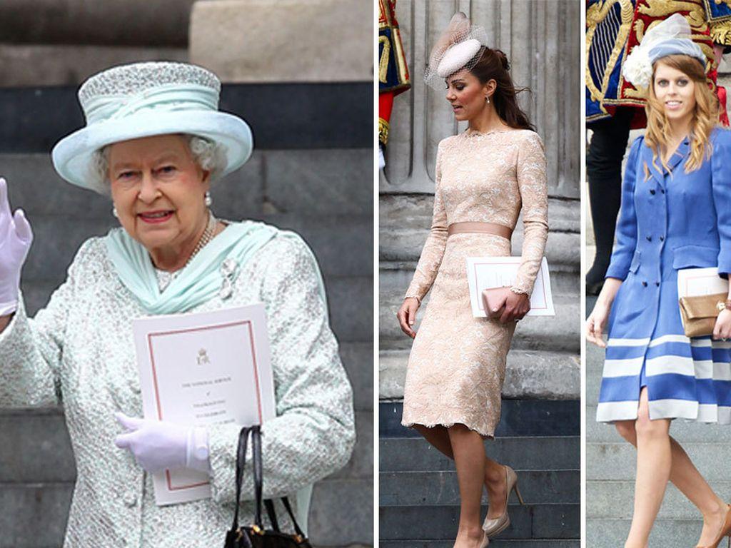 Herzogin Kate, Queen Elizabeth II., Camilla Parker Bowles, Prinzessin Eugenie und Prinzessin Beatric