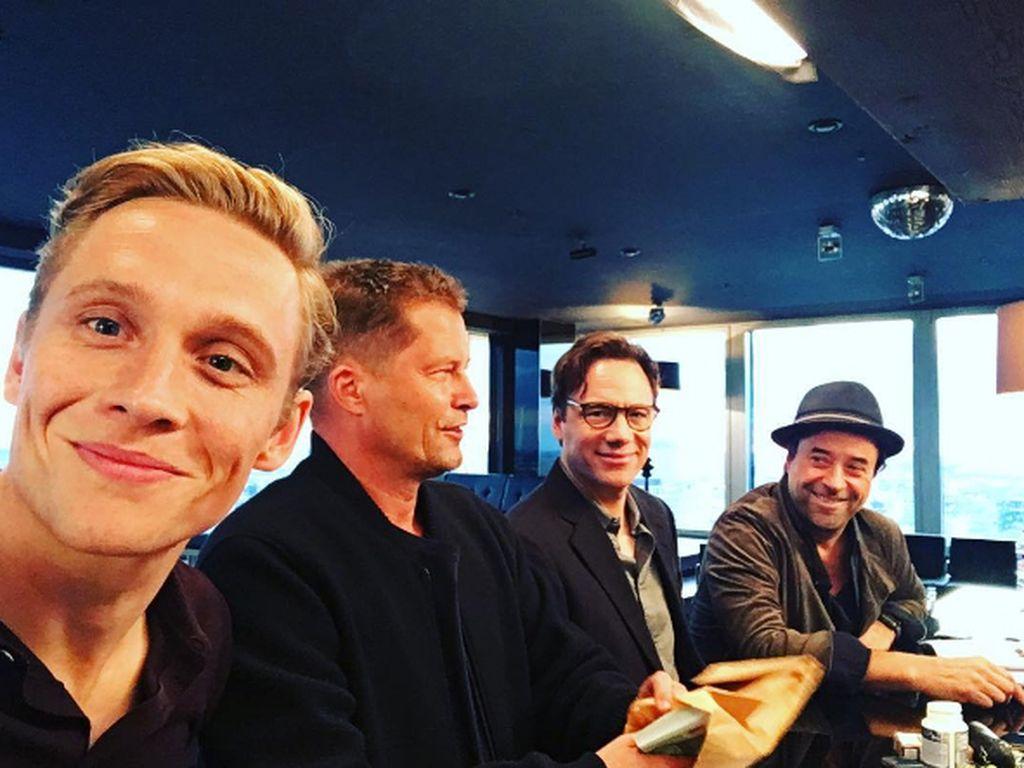Die Schauspieler Matthias Schweighöfer, Til Schweiger, Bully Herbig und Jan Josef Liefers