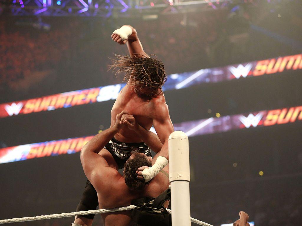 Dolph Ziggler und Alexander Rusev beim WWE SummerSlam