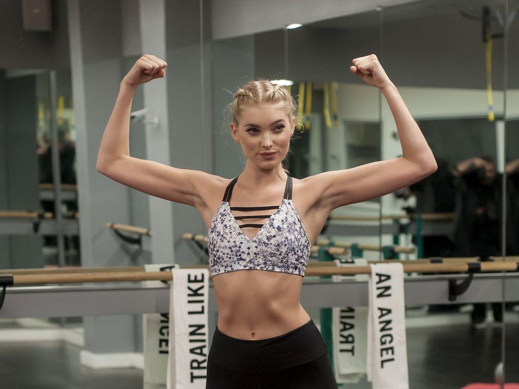 """Elsa Hosk beim Training für die Modenschau von """"Victoria's Secret"""" 2016"""
