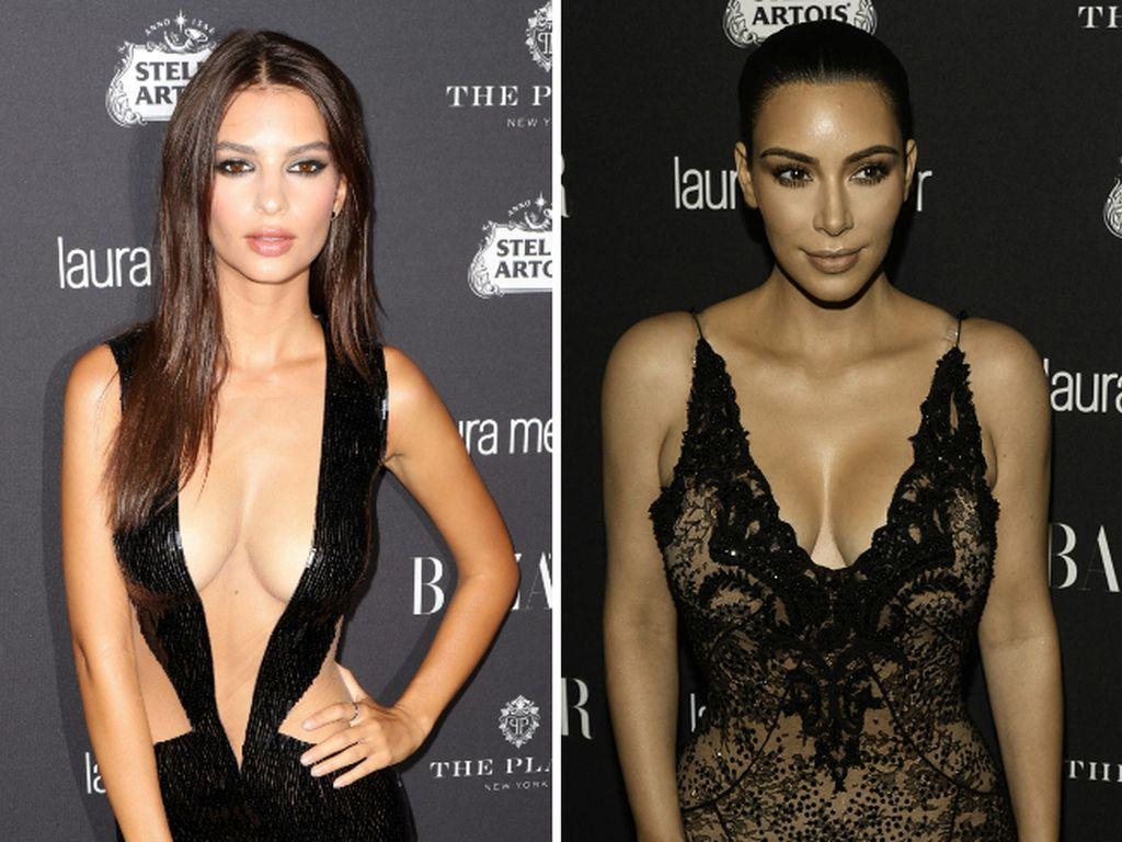 Emily Ratajkowski und Kim Kardashian auf der New York Fashion Week