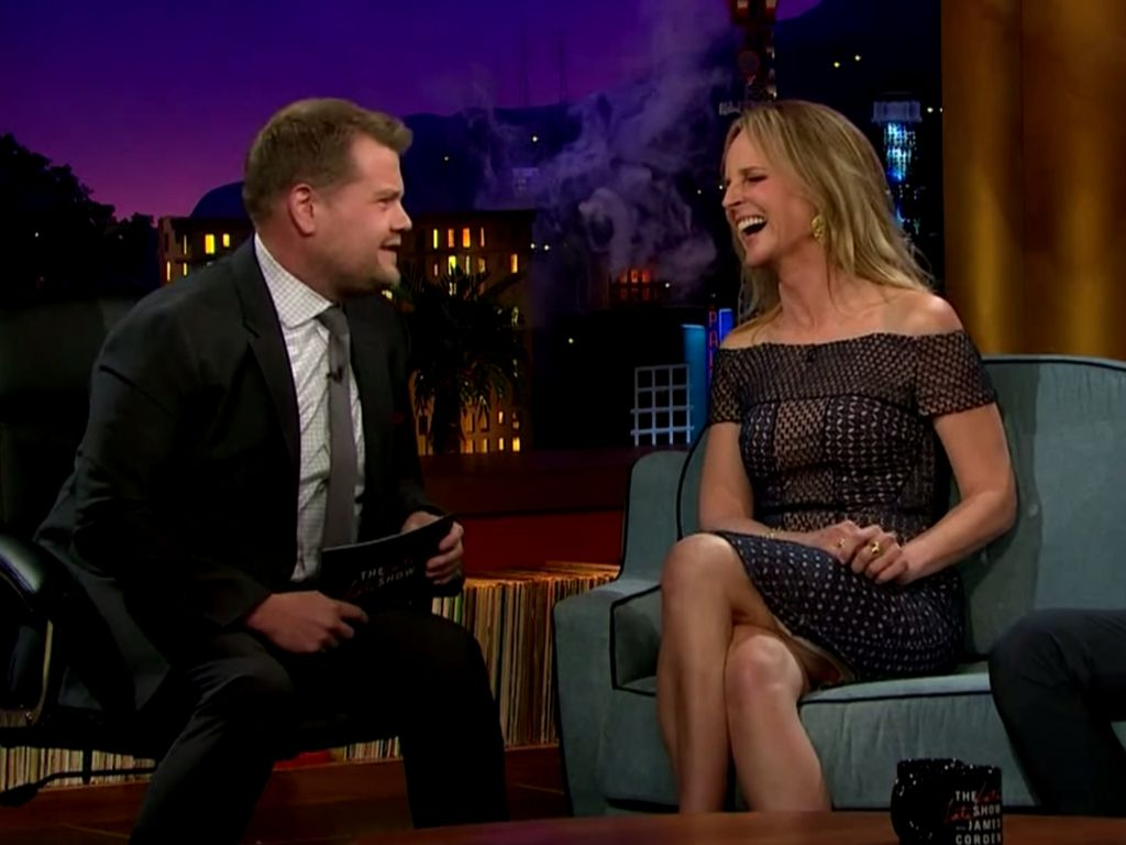 James Corden und Helen Hunt