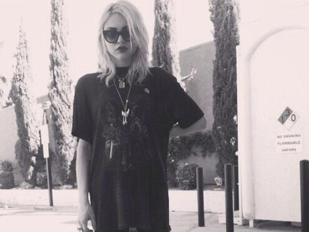 Frances Bean Cobain Grunge Look Ist In Den Genen