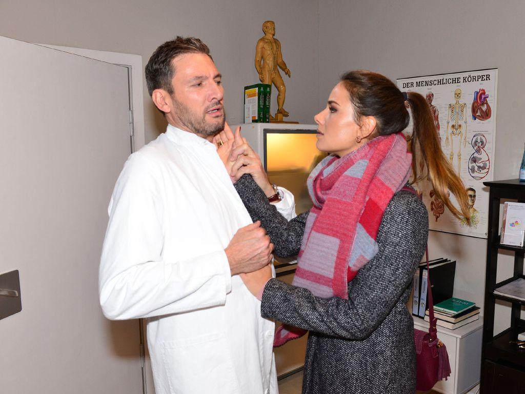 Janina Uhse und Dieter Bach