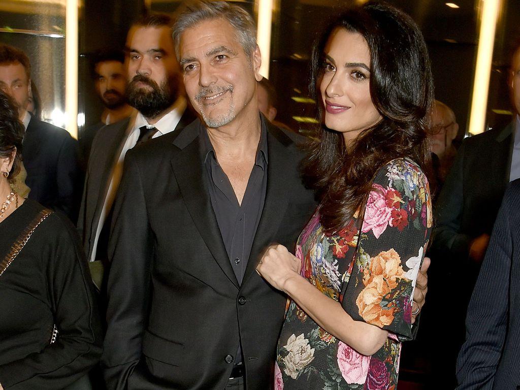 """George Clooney und seine Frau Amal beim Netflix-Screening zu """"The White Helmets"""" in London"""
