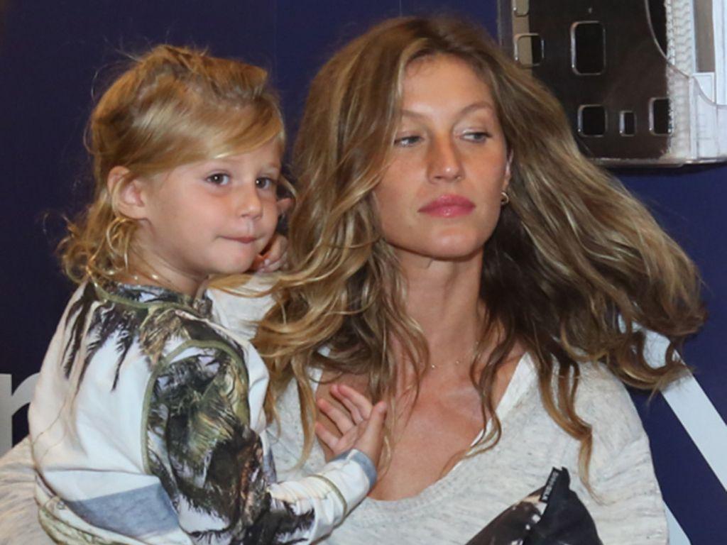 Gisele Bündchen mit Tochter Vivian Lake Brady in Rio de Janeiro