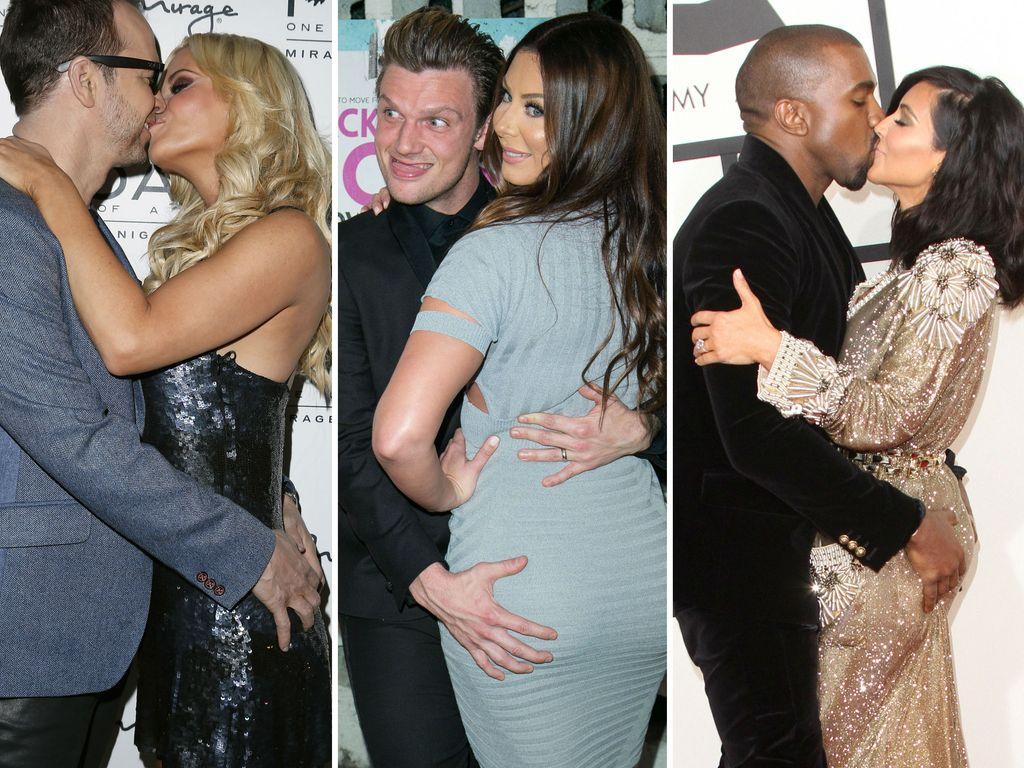 Kim Kardashian, Kanye West, Nick Carter, Jenny McCarthy und Donnie Wahlberg