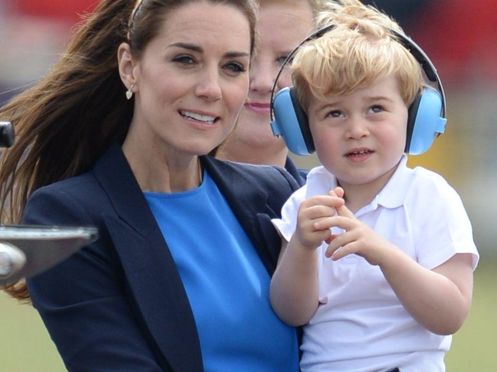 Herzogin Kate mit ihrem ältesten Sohn Prinz George