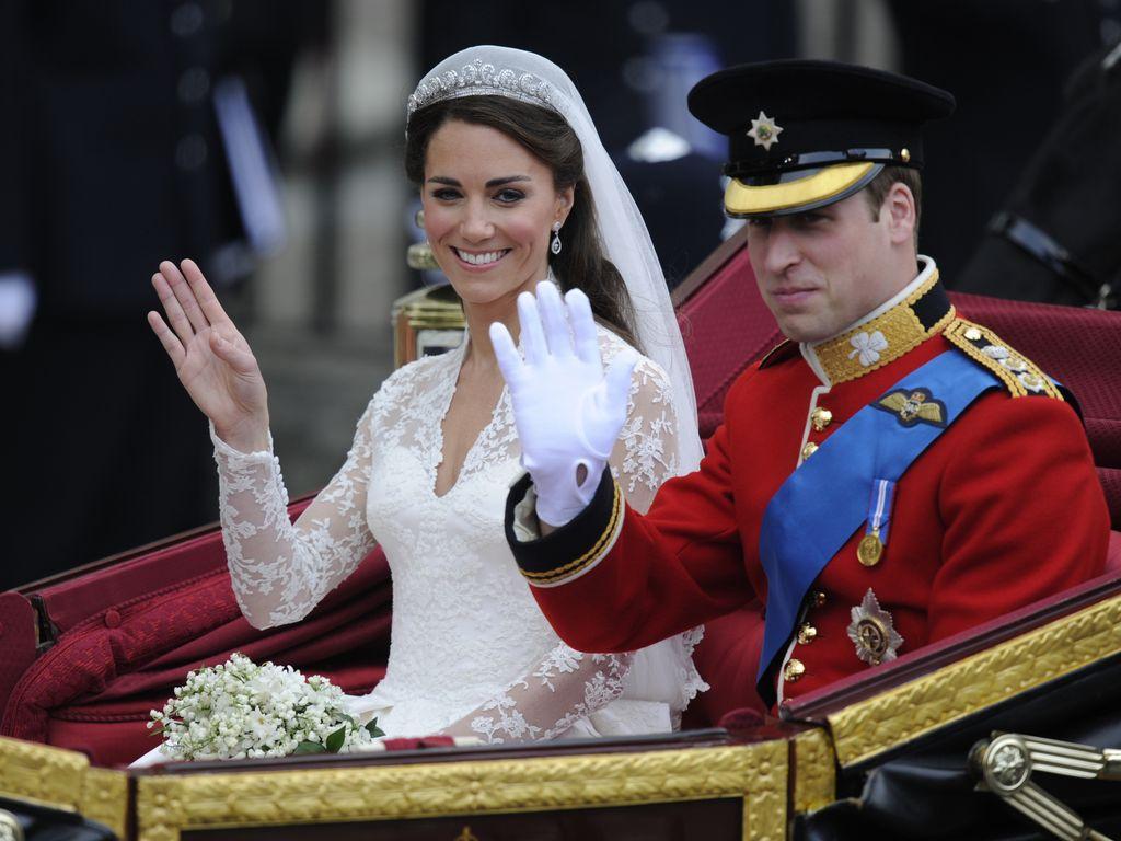 Herzogin Kate und Prinz William an ihrem Hochzeitstag