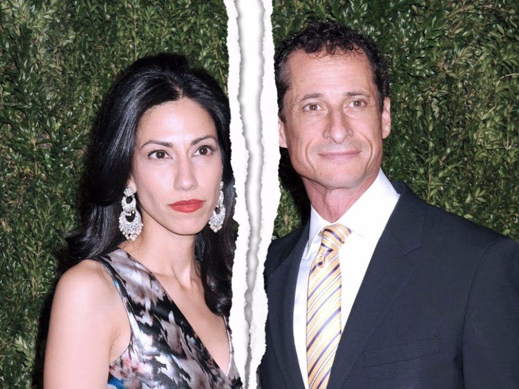 Huma Abedin und Anthony Weiner in New York City