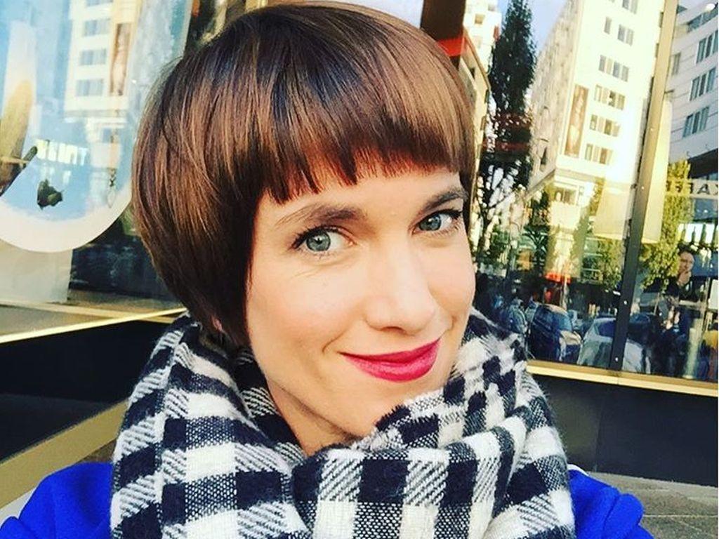 Isabell Horn nach einem Friseurbesuch