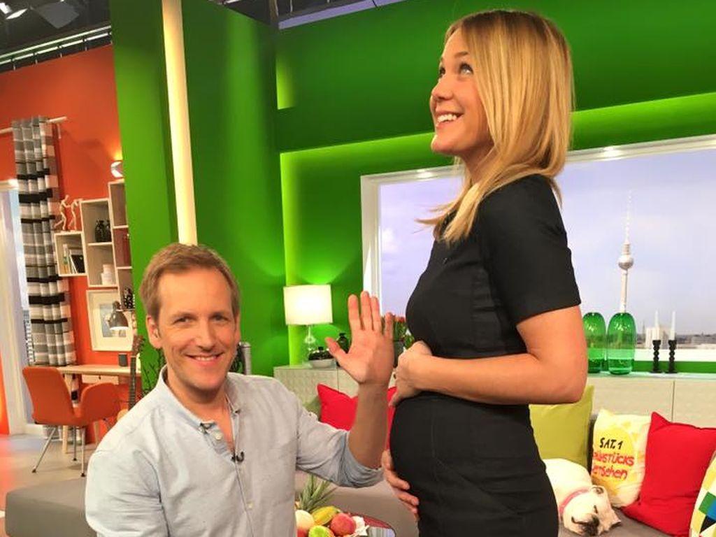 Alina Merkau und Jan Hahn im Sat.1-Frühstücksfernsehen