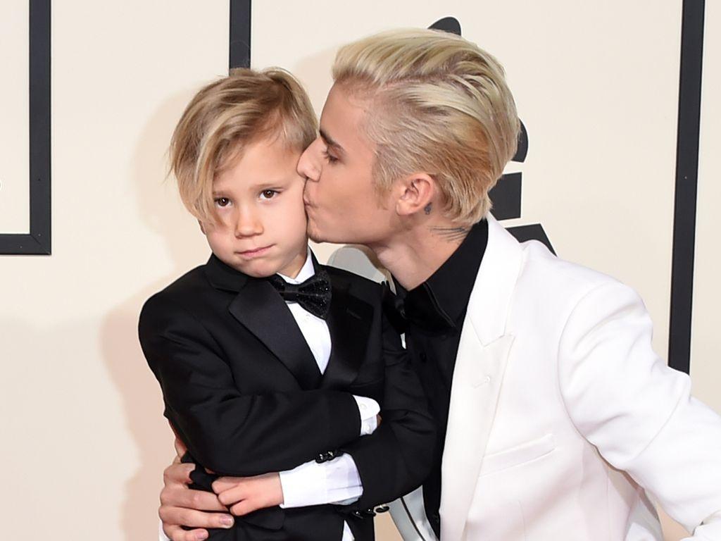 Jaxon und Justin Bieber bei den Grammy Awards 2016