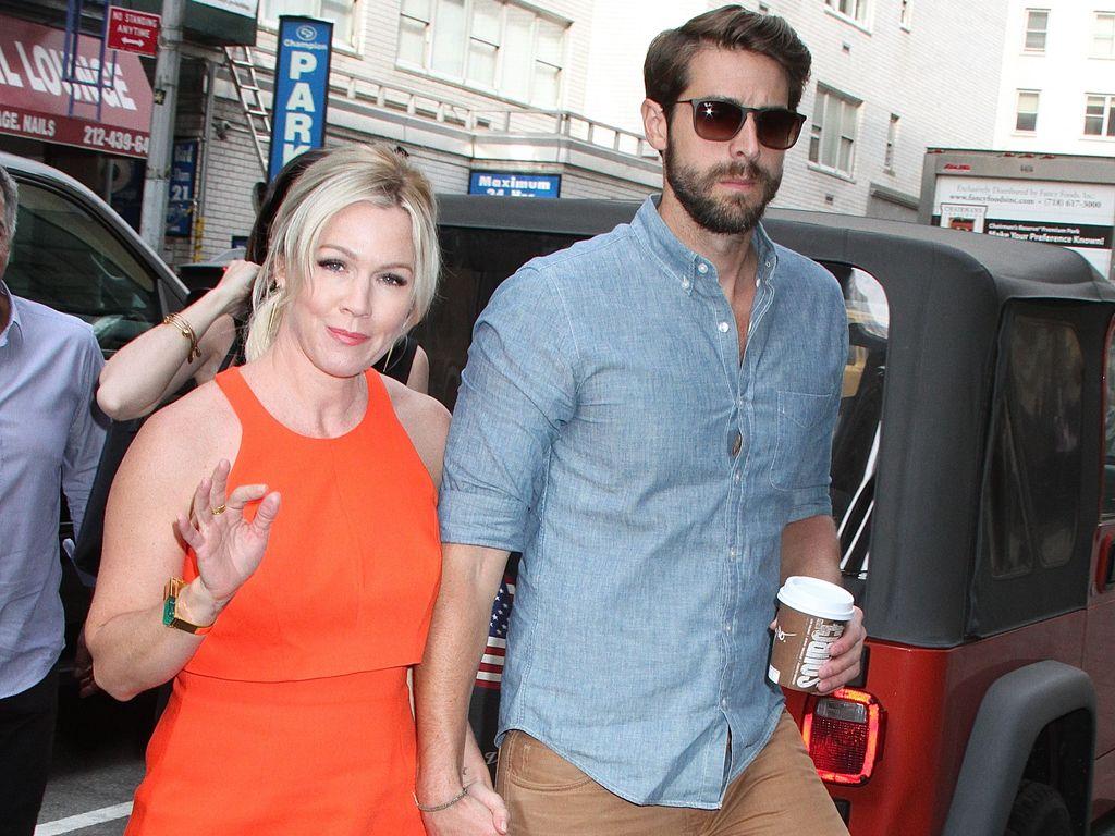 Jennie Garth mit ihrem Ehemann David Abrams