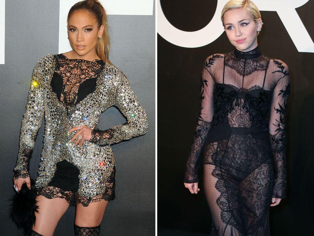 Miley Cyrus und Jennifer Lopez