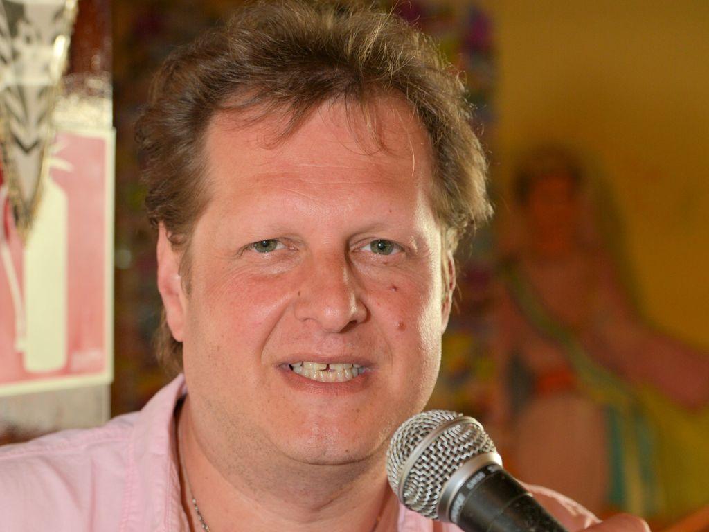 Jens Büchner bei einem Auftritt im Bierkönig auf Mallorca