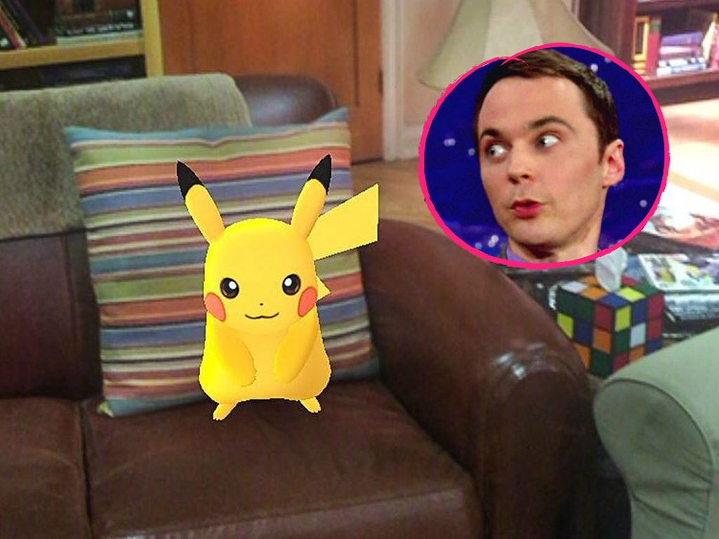 "Pikachu im ""The Big Bang Theory""-Set"