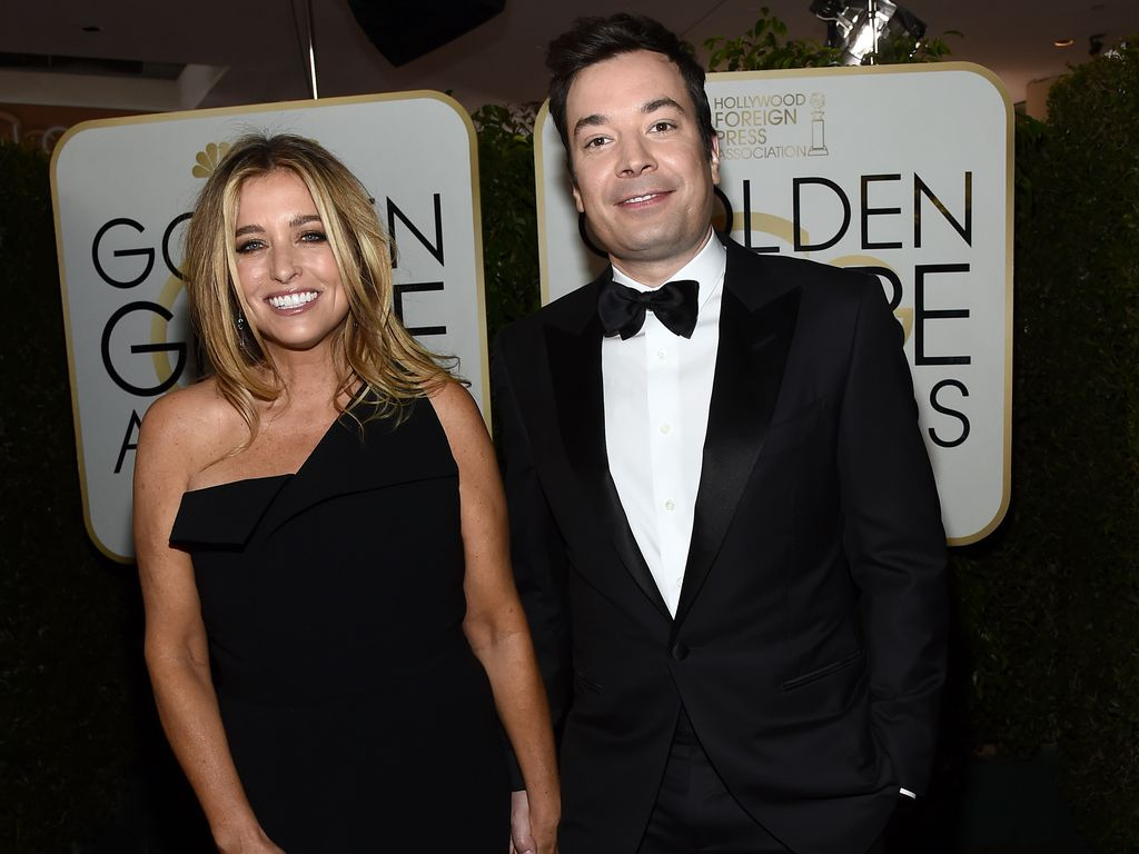 Jimmy Fallon mit Ehefrau Nancy Juvonen bei den Golden Globes 2017
