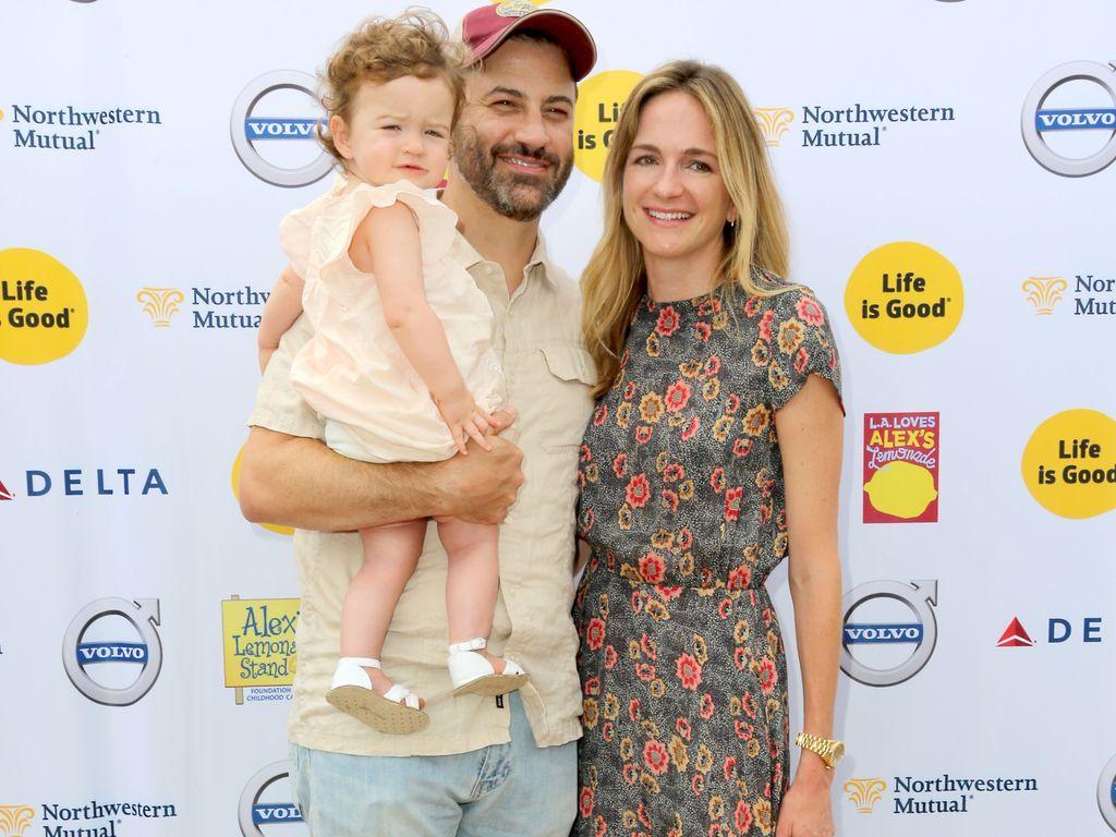 Jimmy Kimmel, Ehefrau Molly McNearney und Tochter Jane