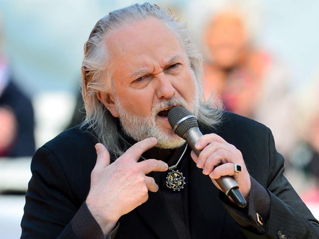 Joachim Witt 2014 bei einem Auftritt im ZDF Fernsehgarten