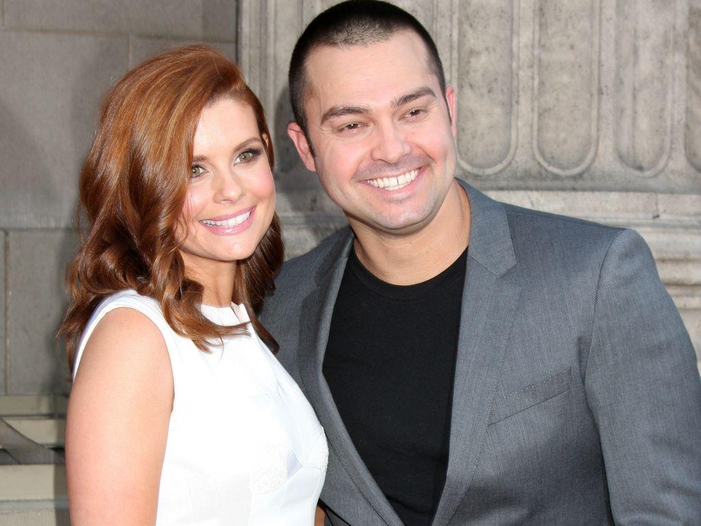 Joanna García mit ihrem Ehemann Nick Swisher im Jahr 2014