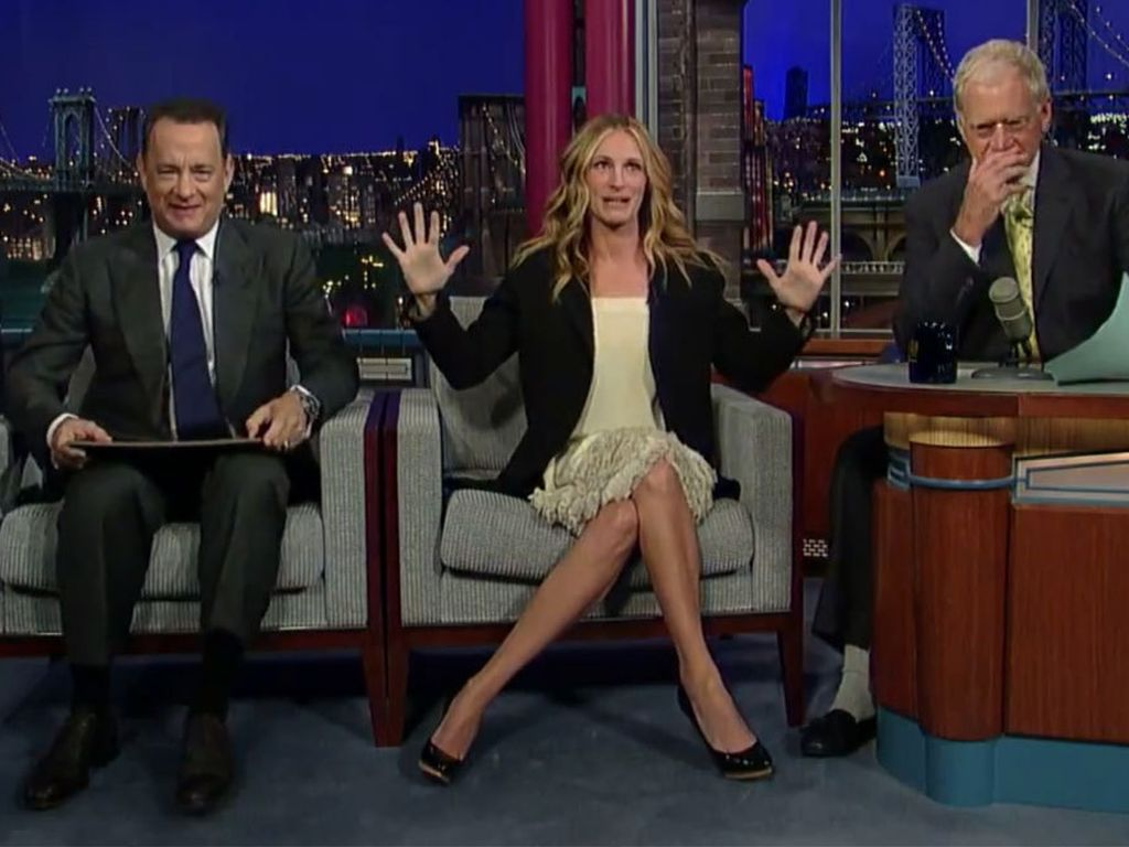 Tom Hanks, Julia Roberts und David Letterman