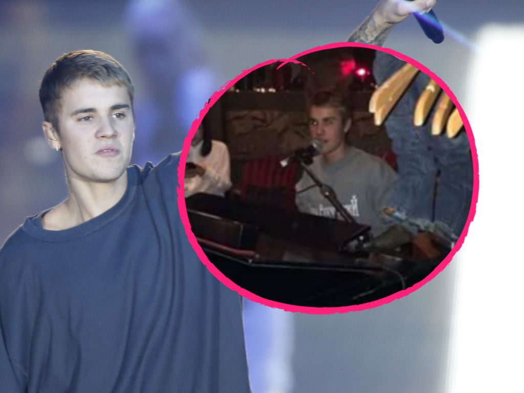 Justin Bieber am Klavier
